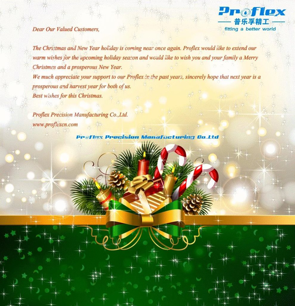 Merrry Christmas & Happy New Year for all Proflex Valued Customers!